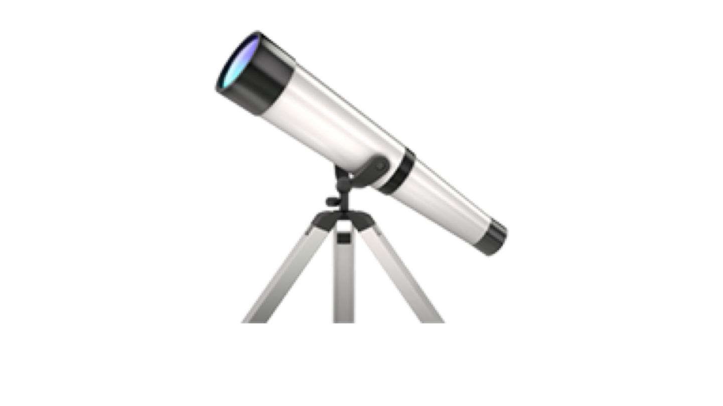Telescope emoji