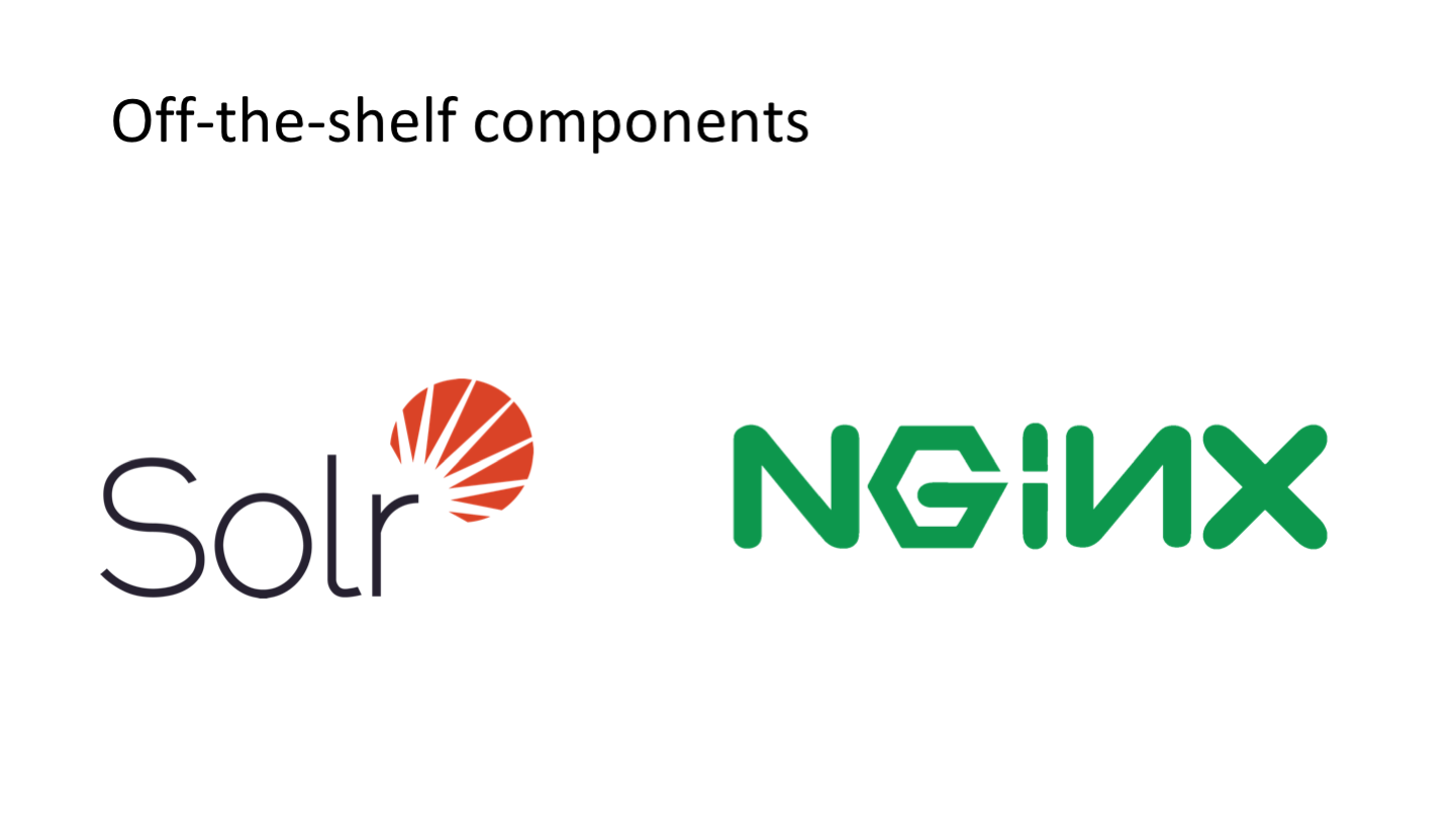 Off-the-shelf components <p>