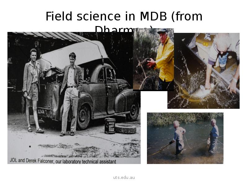 Field science in MDB (from Dharmae)