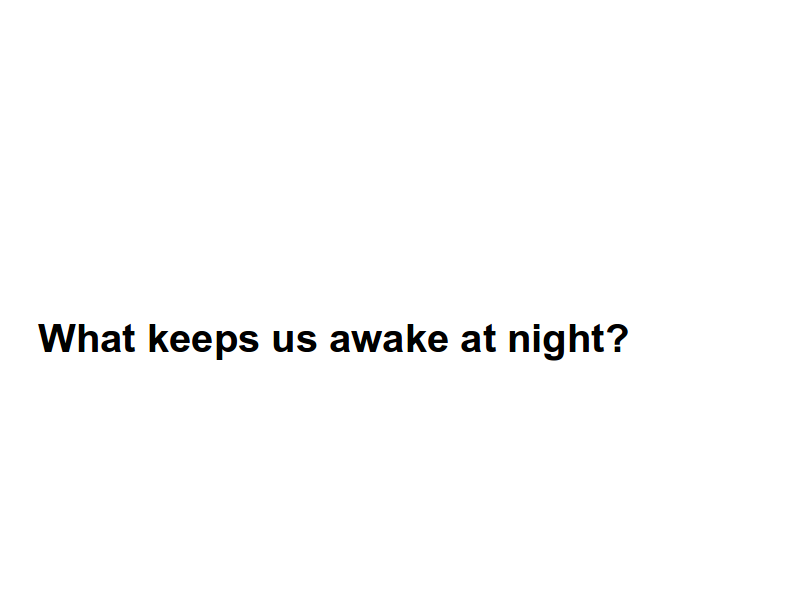 What keeps us awake at night?